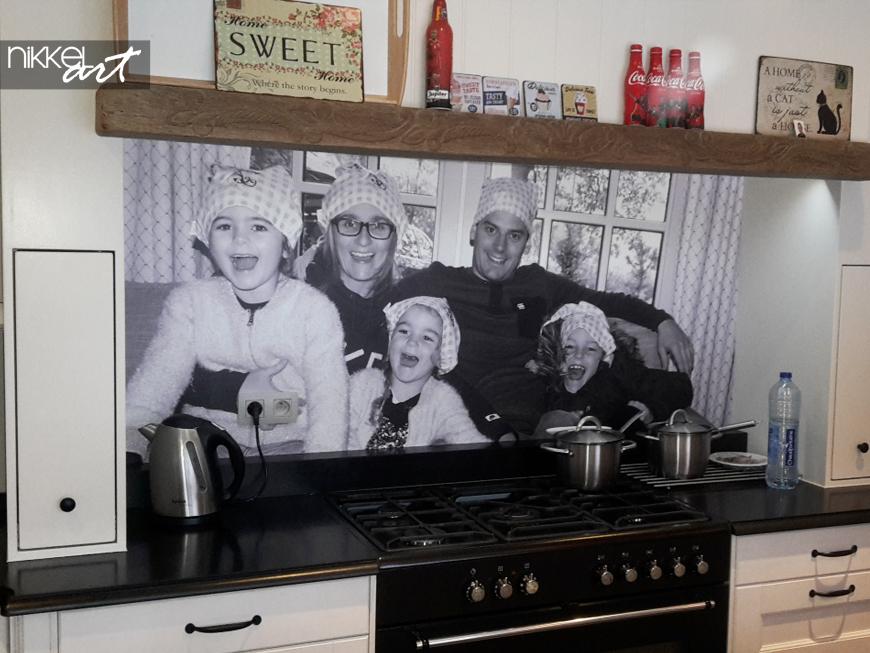 keuken achterwand eigen foto