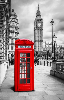 Keuken foto achterwand Bestsellers Red telephone box in London