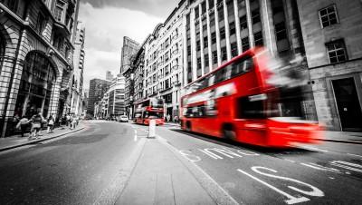 Foto op Aluminium Bestsellers Londen zwart wit