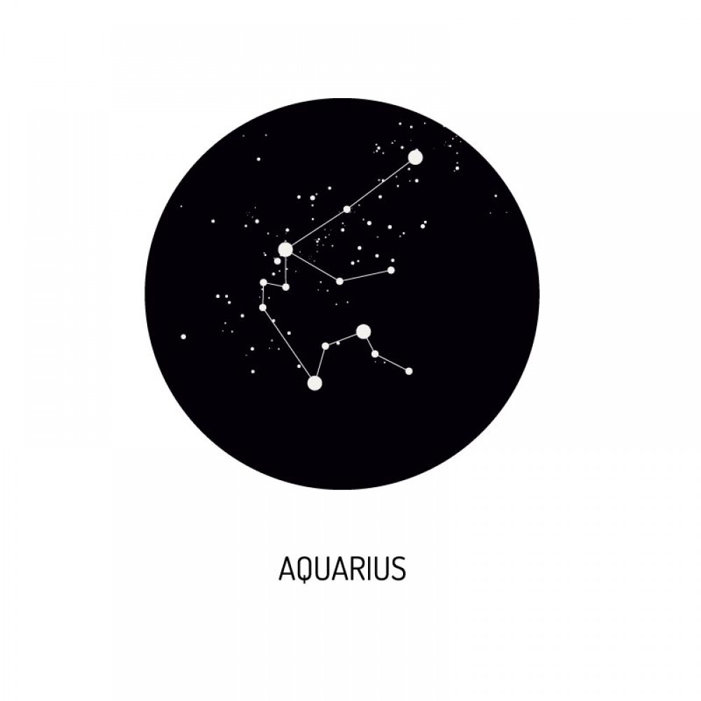 Deurstickers Zodiac Aquarius