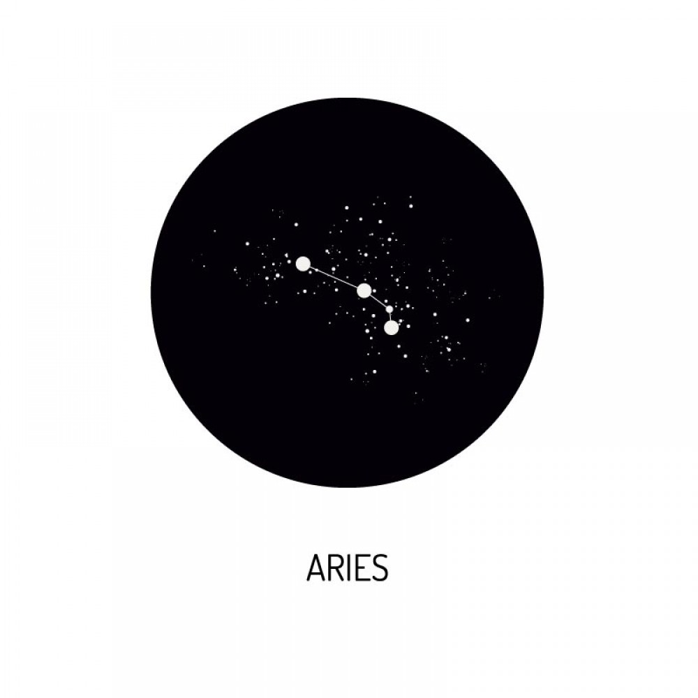 Deurstickers Zodiac Aries