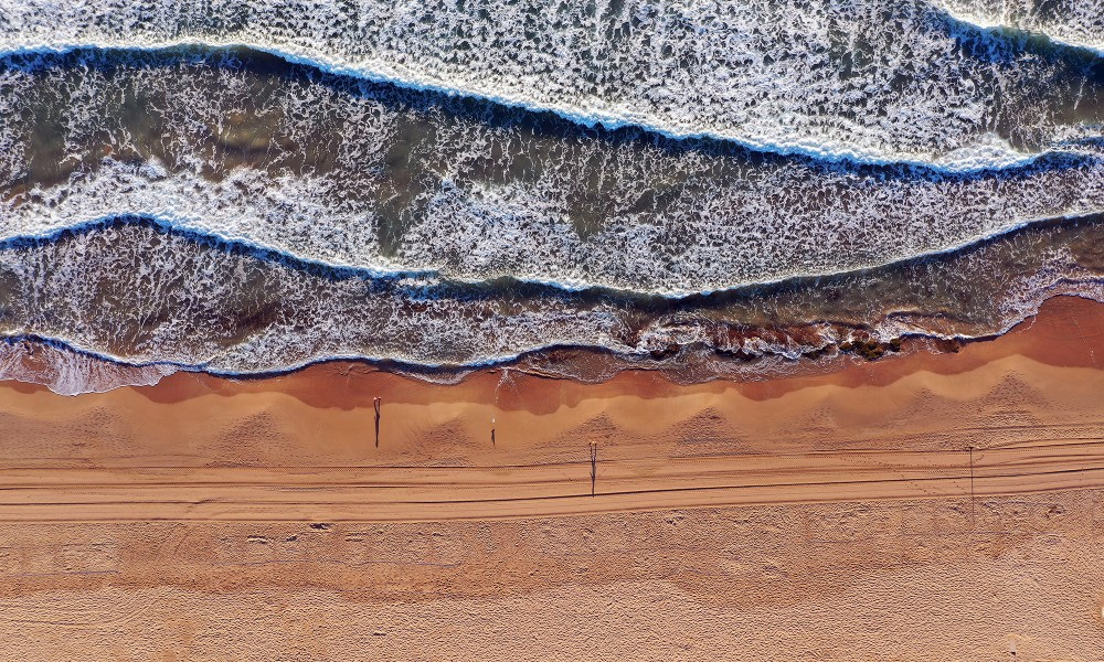 Aerial view on beach