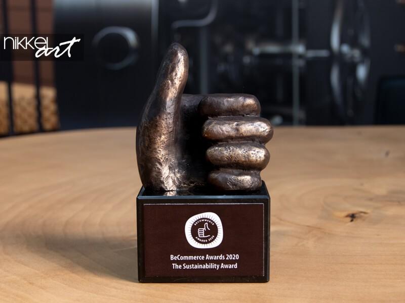 Op onze trofee kast: BeCommerce Sustainability Award 2020