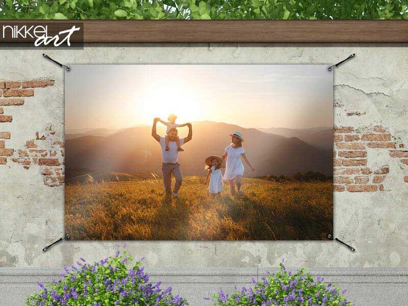 Een tuinposter met eigen foto bestellen