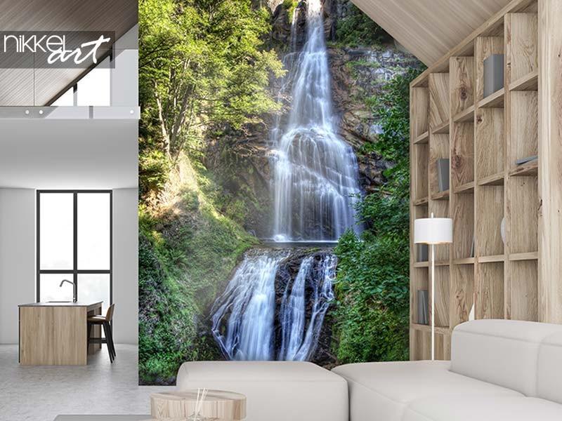 Laat je muren spreken: waterval foto prints