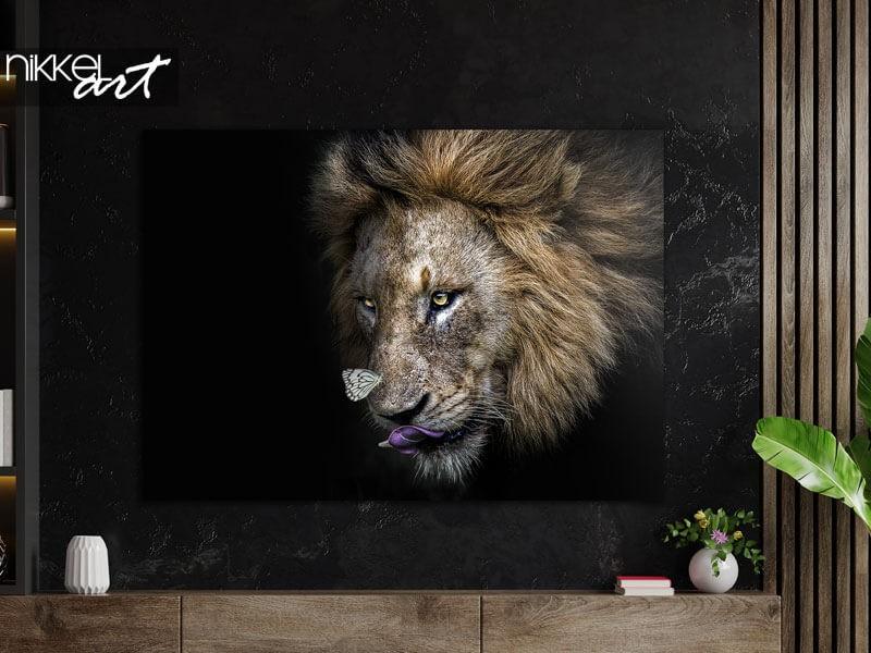 Stoer en stijlvol: een leeuw op aluminium