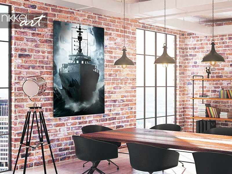 Decoratie tip: storm op zee schilderij
