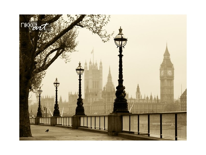 Grote Ben en Houses of Parliament London in mist