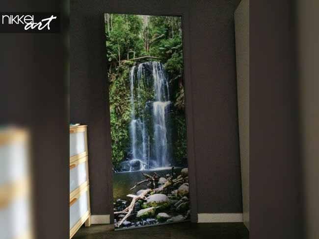 Deursticker Watervallen