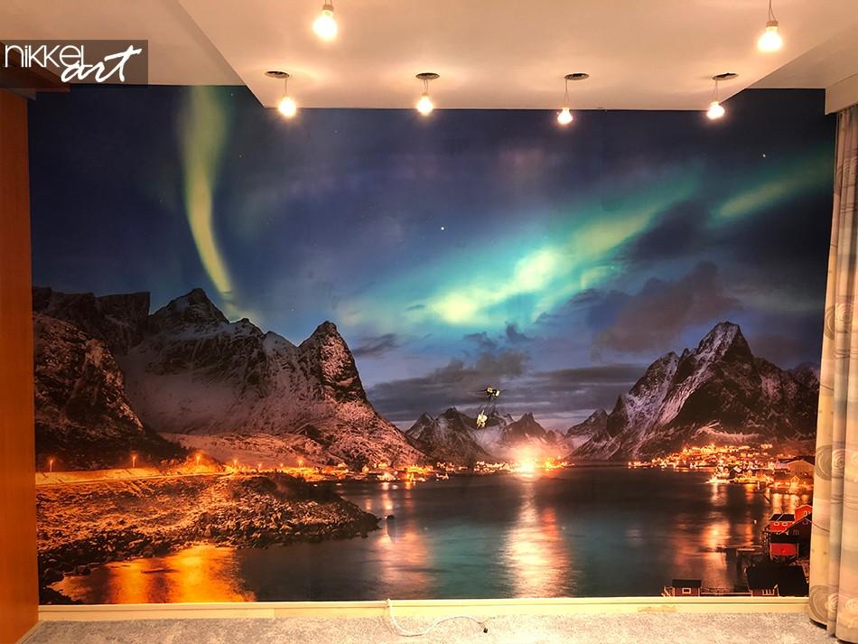 Fotobehang met Noorderlicht