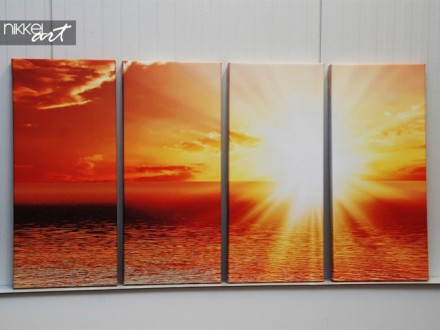 Foto op Canvas Zonsondergang