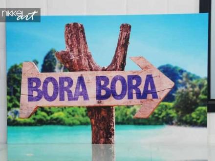 Foto op Canvas houten bord Bora Bora