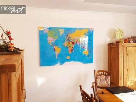 Foto op Plexiglas Wereldkaart
