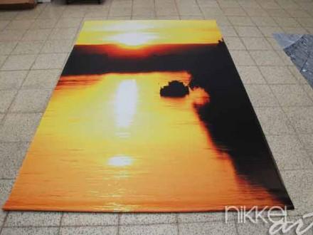 Foto op Tuinposter Zonsondergang