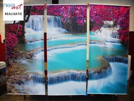 Fotorolgordijnen Watervallen