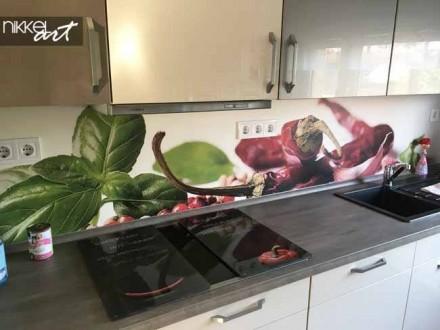 Keuken achterwand met foto Kruiden
