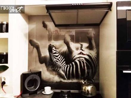 Keuken foto achterwand Zebra