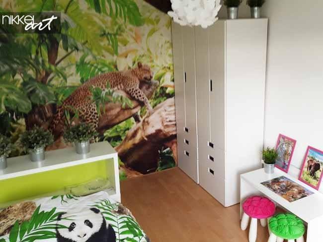 Kinderkamer jongens fotobehang met luipaard