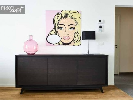 Prachtig schilderij in de stijl van Pop Art