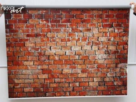 Rolgordijn met foto Baksteen muur