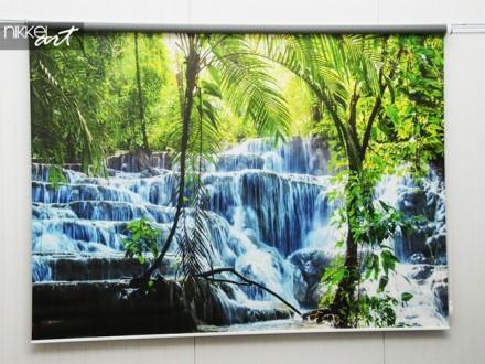 Rolgordijn met foto Watervallen