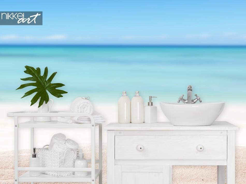Badkamer met Fotobehang Strand