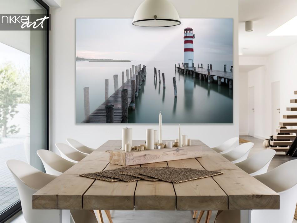 Eetkamer met Foto Traditionele Vuurtoren op Plexiglas