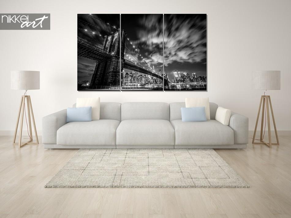 Foto op plexiglas New York zwart wit