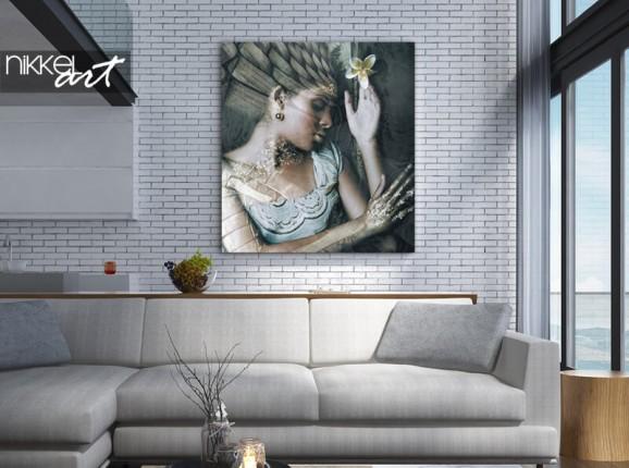 Foto op aluminium engel