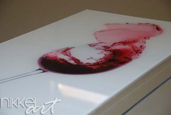 Foto op Plexiglas red wine splash