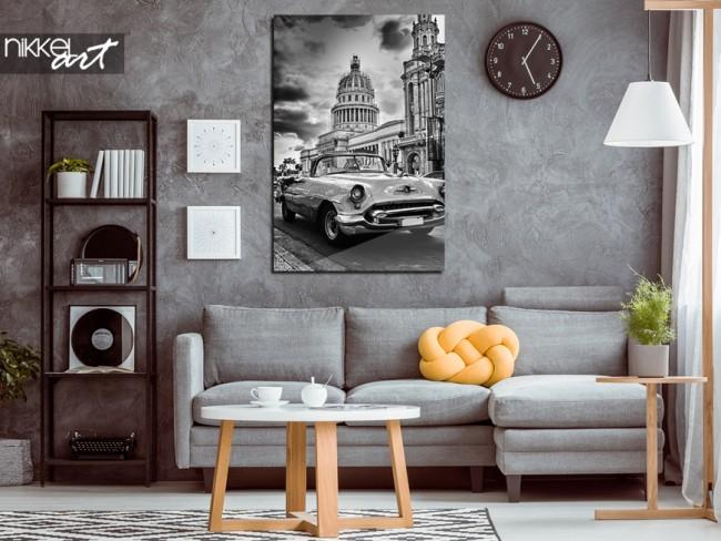 Foto op plexiglas Havana in zwart wit
