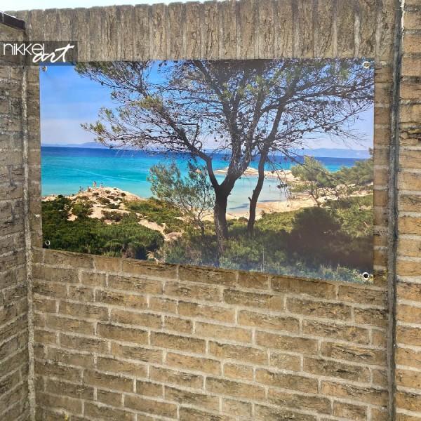 Foto tuinposter strand - eigen foto