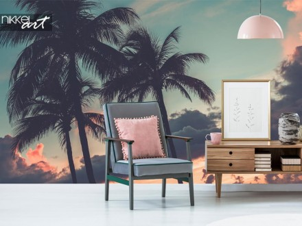 Fotobehang met palmbomen