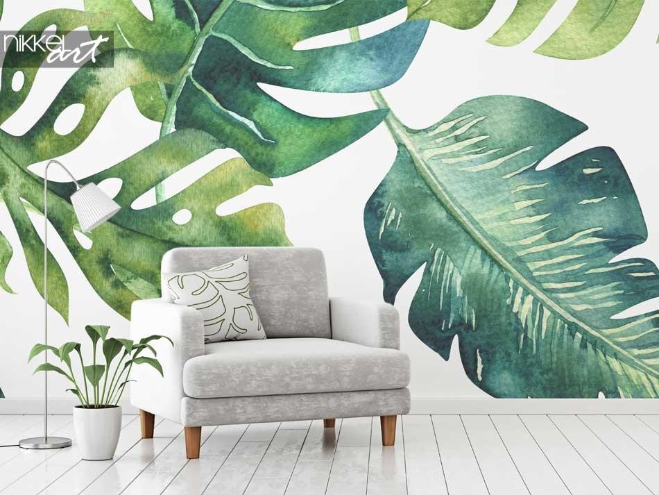 Fotobehang Tropische bladeren