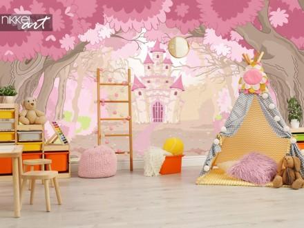 Fotobehang magische kasteel voor de kinderkamer