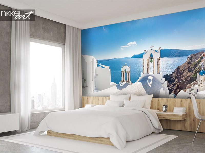 Santorini op fotobehang