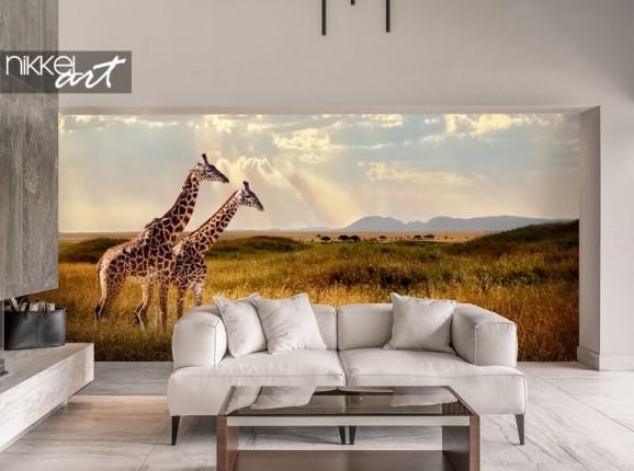 Fotobehang met giraffen