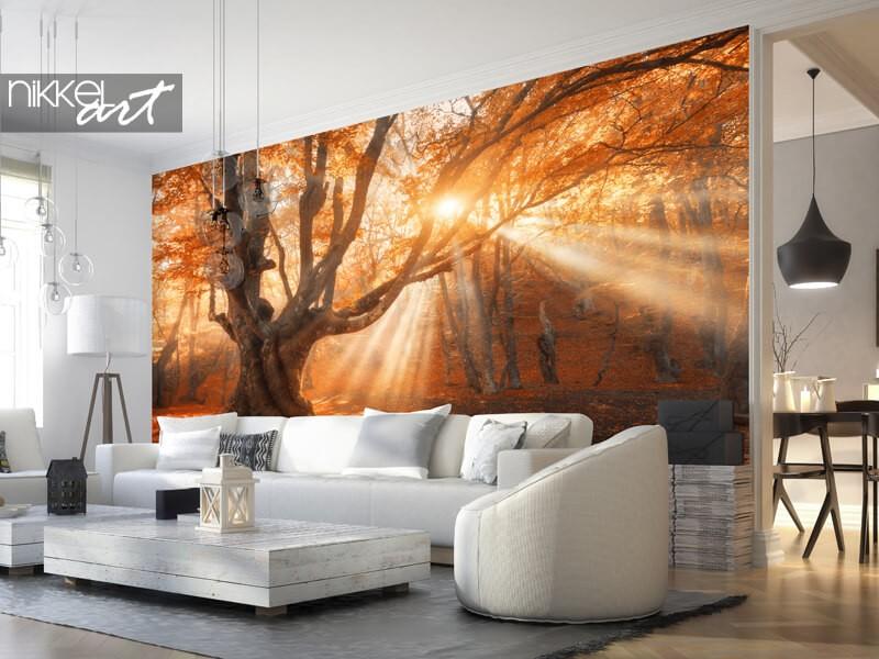Fotobehang gouden herfst