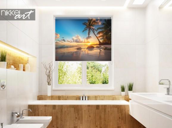 Fotorolgordijn tropisch strand