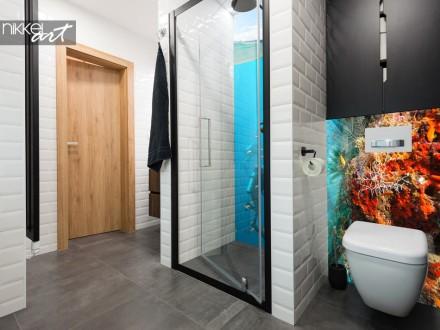 Glazen Badkamer Achterwand Onderwater