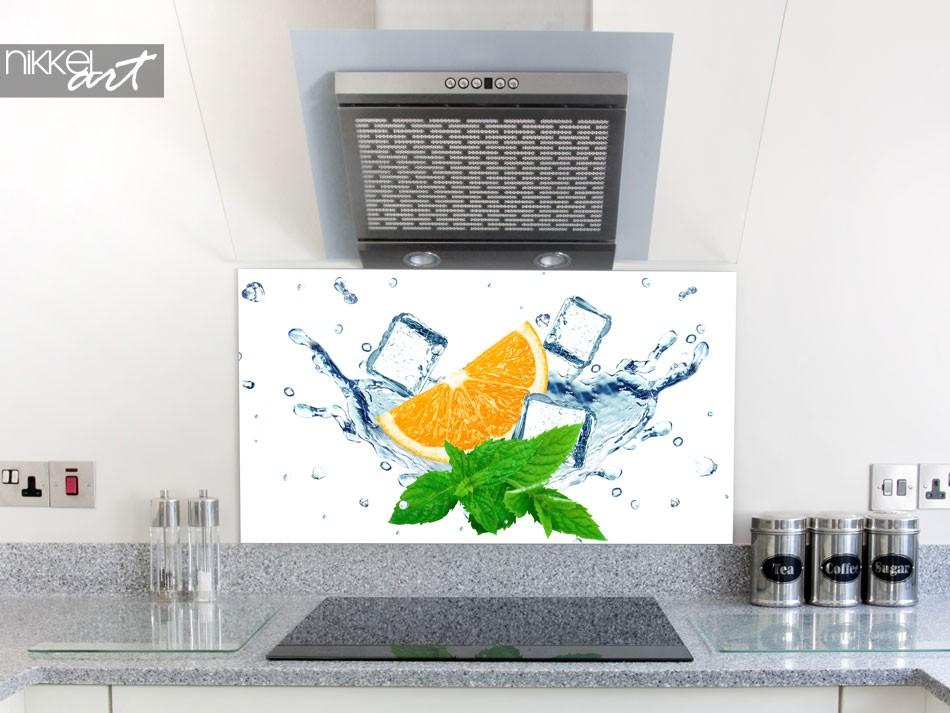 Glazen keuken achterwand met print - in het ice