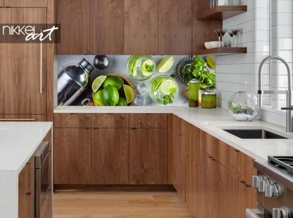 Glazen keuken achterwand mojito