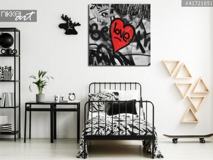 Foto op Aluminium Graffiti op een muur