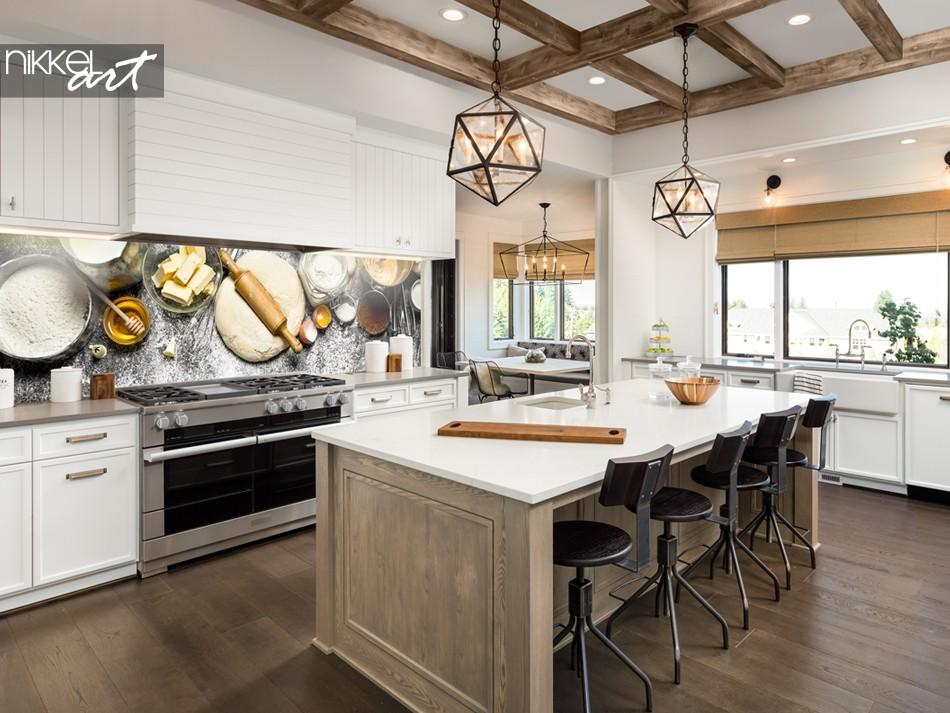 Glazen Achterwand Keuken met Foto Bakkerij
