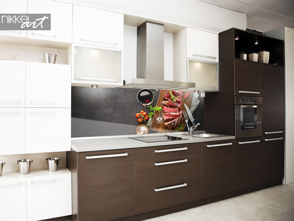 Keuken Achterwand met Foto Barbecue