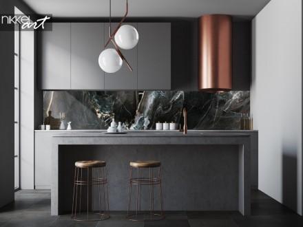 Keuken Achterwand met Foto Marmer Textuur