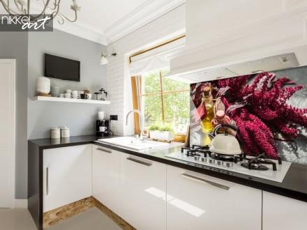 Glazen Keuken Achterwand met Foto Kruiden