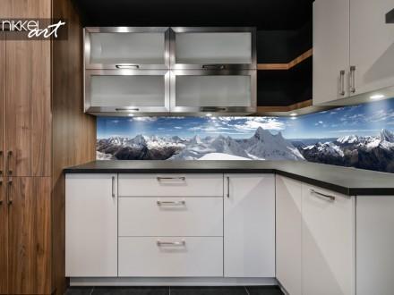 Keuken Achterwand met Panorama Bergen