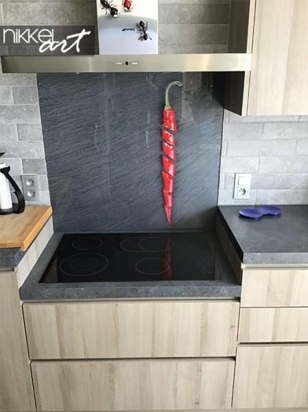 Keuken foto achterwand met hot chili peppers
