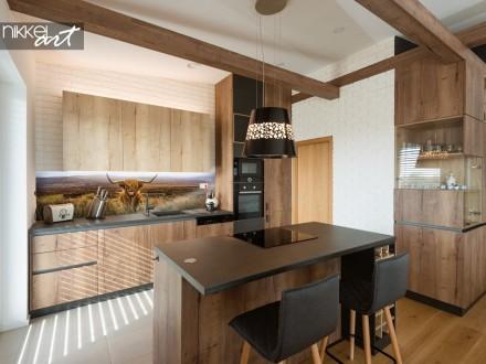 Glazen Keuken Achterwand met Foto Schotse Hooglander